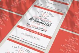 Label Logo print love and lecker detmolder fass