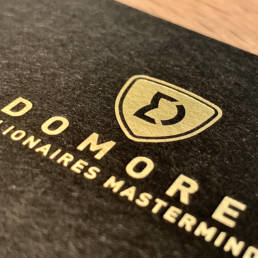 Domore Logo DM Letterpress