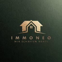 immoneo wir schaffen werte logodesign