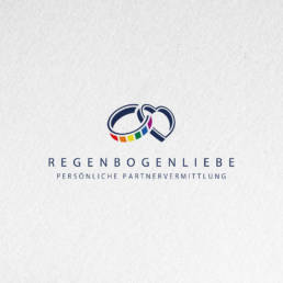 Regenbogenliebe Partnervermittlung logodesign
